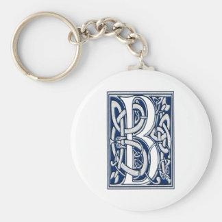 Celtic B Monogram Basic Round Button Keychain