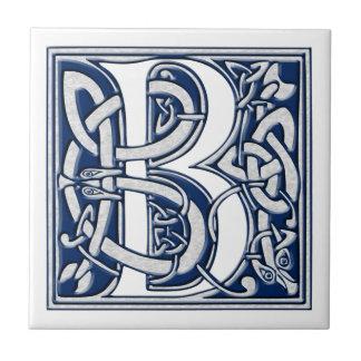 Celtic B Monogram Ceramic Tile