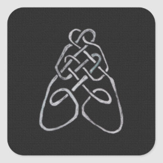 Celtic Bee Knot Square Sticker