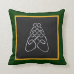 Celtic Bee Knot Throw Pillows