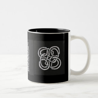 Celtic Bee Knot Two-Tone Coffee Mug