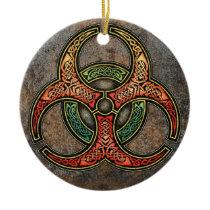 Celtic Biohazard Pendant/Ornament Ceramic Ornament
