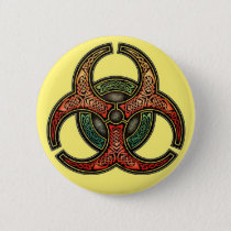 Celtic Biohazard Round Button