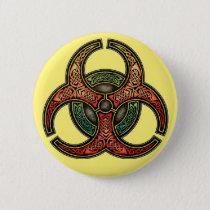 Celtic Biohazard Round Button