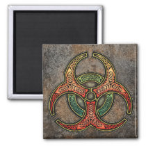Celtic Biohazard Square Magnet