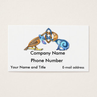 Celtic bird and rabbit business card