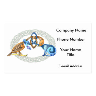 Celtic Bird and Rabbit with Frame Double-Sided Standard Business Cards (Pack Of 100)