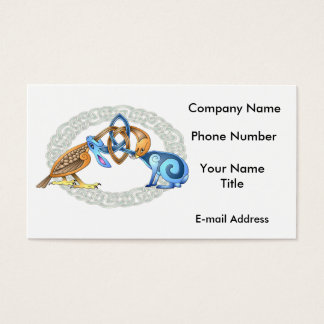 Celtic Bird and Rabbit with Frame Business Card