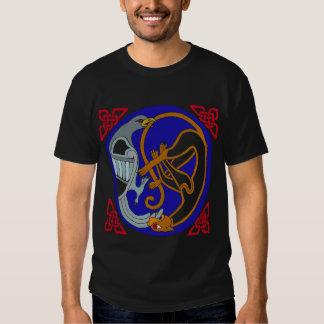 Celtic Bird & Cat T-shirt