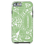 Celtic Bird Circle Pattern Personalized iPhone Tough iPhone 6 Case