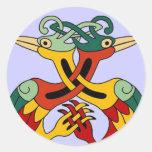 Celtic Bird Classic Round Sticker