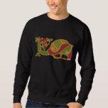 Celtic Bird Embroidered Sweatshirt
