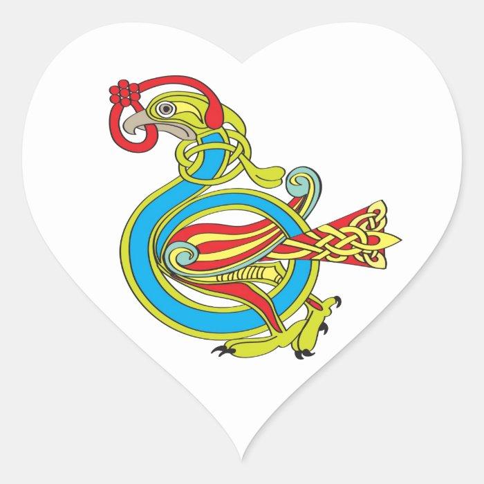 Celtic Bird Heart Sticker