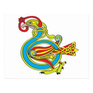 Celtic Bird Postcard