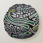 Celtic Birds 3D Foil Round Pillow