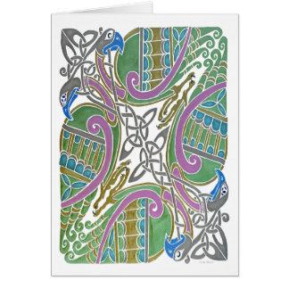 Celtic Birds Card