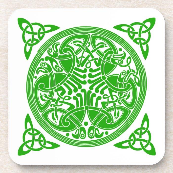 Celtic birds Cork Coaster