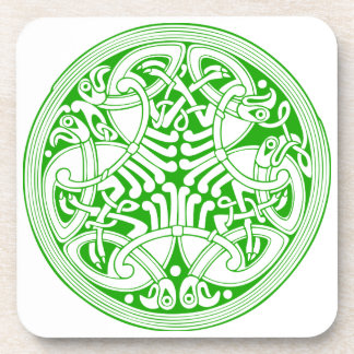 Celtic birds Cork Coaster