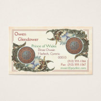 Celtic Birds Design Business Cards