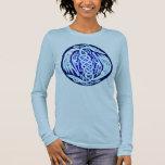 Celtic Birds of Peace (blue version) Long Sleeve T-Shirt