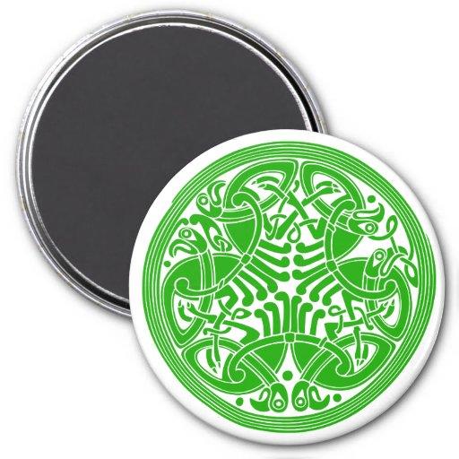 Celtic birds Round Magnet
