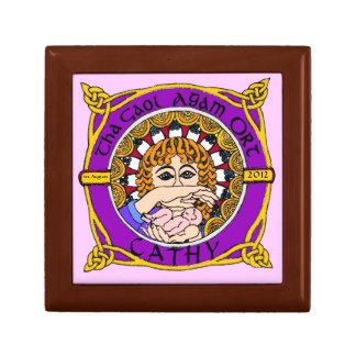 Celtic Birth Blessing jewellery Keepsake Box