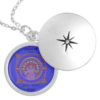 Celtic Birth Blessing silver Plated Locket