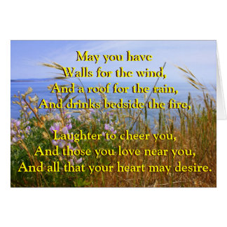 Celtic Blessing for Wedded Bliss Greeting Card
