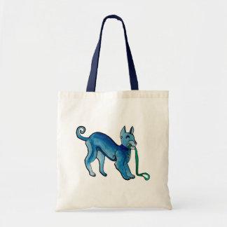 Celtic Blue Dog Canvas Bags