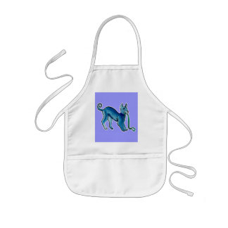Celtic Blue Dog Kids' Apron