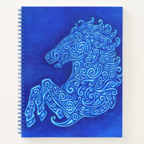 Celtic Blue Horse Spiral Notebook