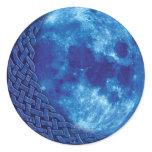 Celtic Blue Moon Classic Round Sticker