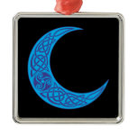 Celtic Blue Moon Metal Ornament