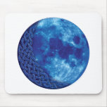 Celtic Blue Moon Mouse Pad