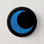 Celtic Blue Moon Pinback Button
