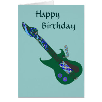 Celtic Blues Guitar Card