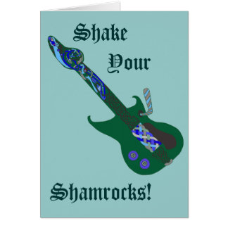 Celtic Blues Guitar Greeting Card