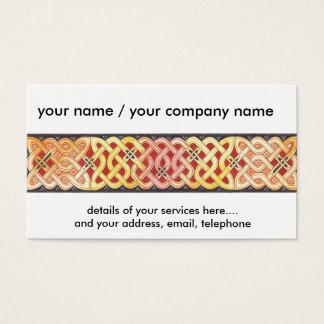celtic border business card