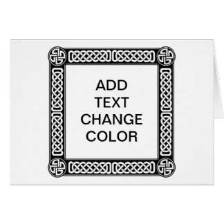 Celtic border on any color stationery note card