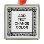 Celtic border on any color metal ornament