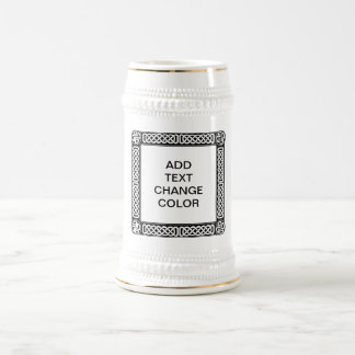 Celtic border on any color 18 oz beer stein