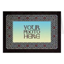 Celtic Border Photo Frame Greeting Card