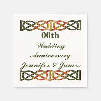 Celtic Braid Wedding Anniversary Napkin