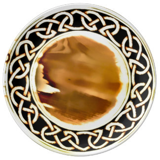 Celtic Brass Decorative Altar Plate