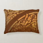 Celtic Brown Suade Tribal Art Accent Pillow