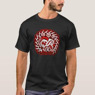 Celtic Buffalo/Bison, red T-Shirt