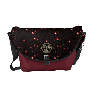 Celtic Burgundy with Jewels and Gold Chains Bag