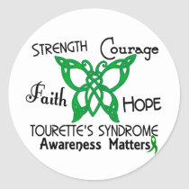Celtic Butterfly 3 Tourette's Syndrome Classic Round Sticker