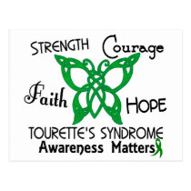 Celtic Butterfly 3 Tourette's Syndrome Postcard