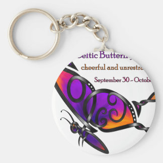 Celtic Butterfly Basic Round Button Keychain